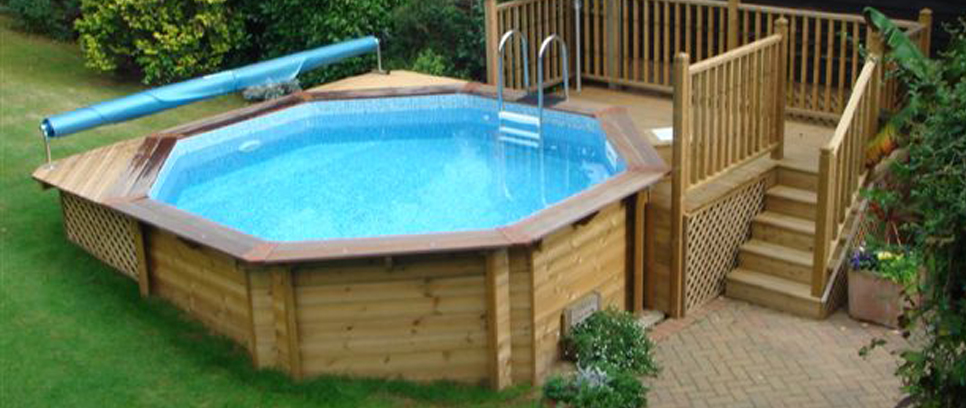 Wooden pools from athena premium wooden swimming pool for Wooden pool